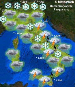 previsioni meteo pasqua