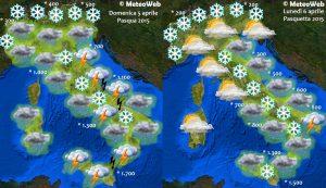 previsioni meteo pasqua pasquetta