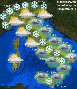 previsioni meteo pasquetta