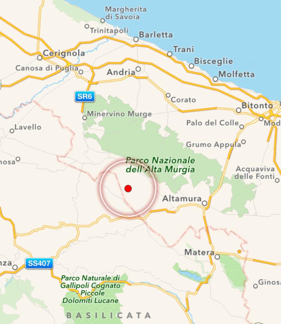 Cartina Di Gravina In Puglia.Terremoto In Puglia Scossa 3 2 Avvertita Gravina Di Puglia E Altamura La Mappa E I Dati Ingv