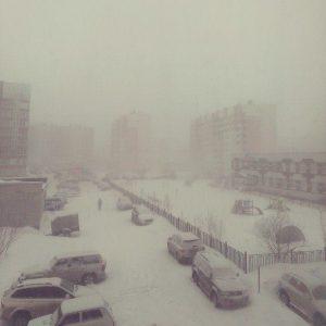 Il ritorno della neve su diverse aree della Siberia