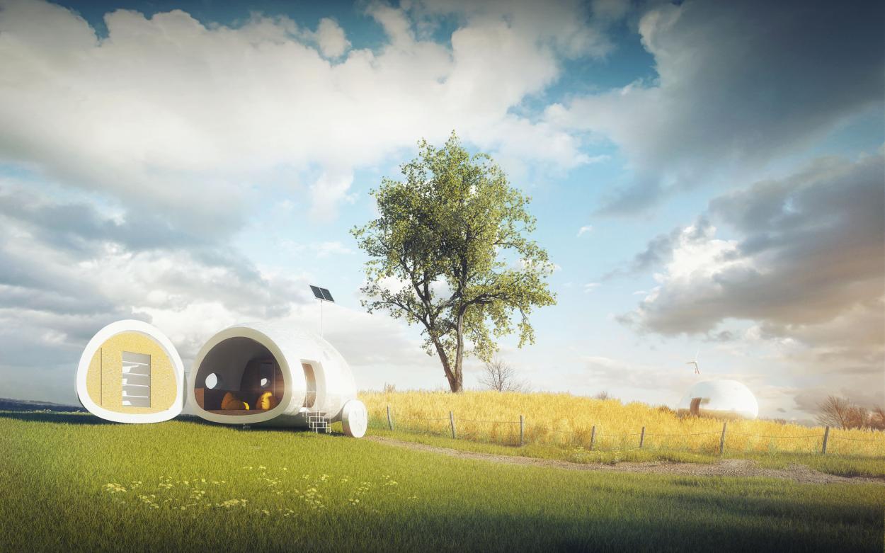 Ecocapsula la casa del futuro off grid e trasportabile - Casa autosufficiente ecologica ...