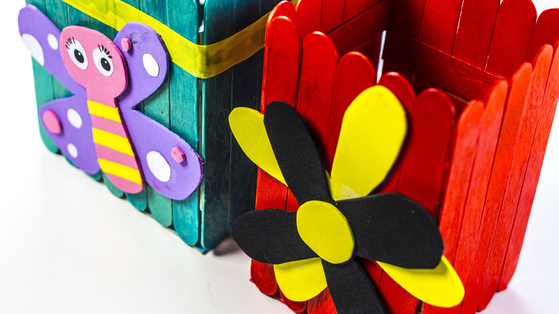 riciclo creativo ecco come riutilizzare i bastoncini in legno dei gelati. Black Bedroom Furniture Sets. Home Design Ideas