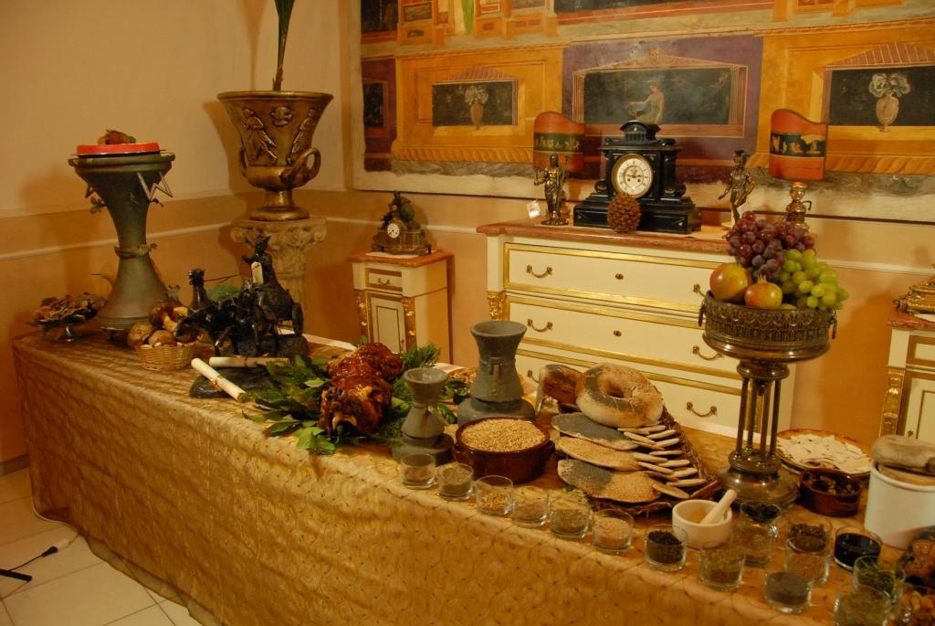Expo alla scoperta delle origini della cucina for Cibi romani