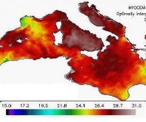 La piscina di acque molto calde che circonda l'Italia