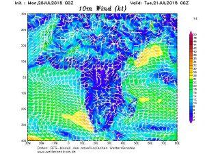 """Il sensibile rinforzo dei venti legati al """"Monsone di Guinea"""""""