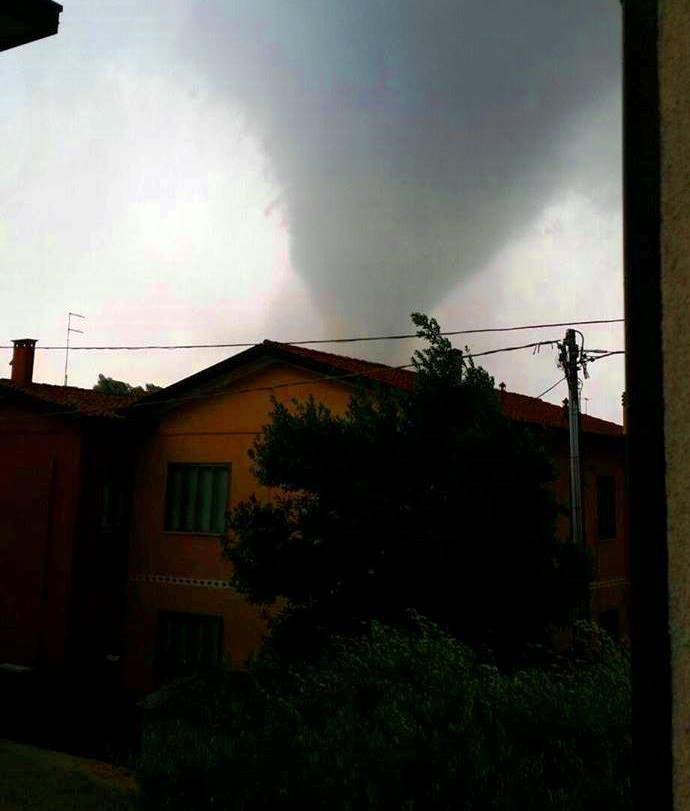 Il tornado dell'8 luglio 2015 sulla Riviera del Brenta
