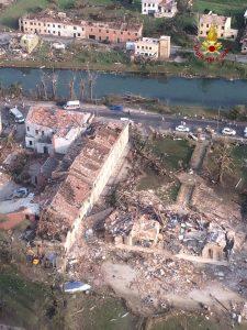 venezia tornado visto dall'alto foto vigili del fuoco (11)