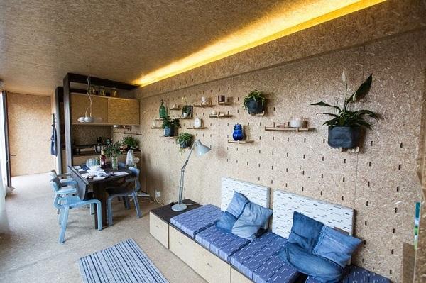 La tiny house container di sustainer homes la casetta sostenibile flessibile ed - Tiny house interni ...