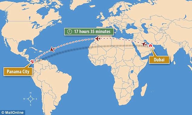 Il Volo Pi 249 Lungo Del Mondo Dubai Panama Dura 17 Ore E