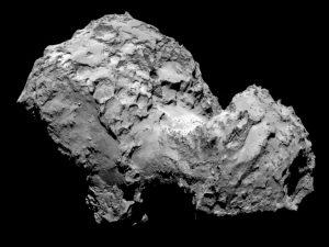 La Cometa 67P ripresa dalla camera OSIRIS a bordo di Rosetta il 3 agosto 2014. Credit: ESA/Rosetta/MPS, per iil team di OSIRIS MPS/UPD/LAM/IAA/SSO/INTA/UPM/DASP/IDA