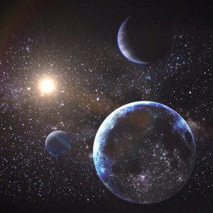 spazio luci pianeti