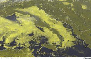 Notevole la copertura sull'Adriatico