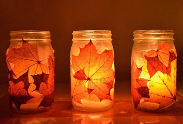 Riciclo creativo tanti modi per riutilizzare le foglie secche - Lanterne portacandele ikea ...