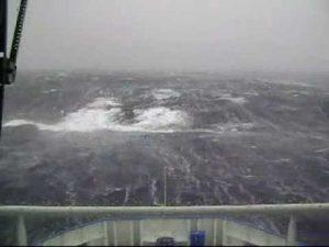 Tempesta sul mar del Nord