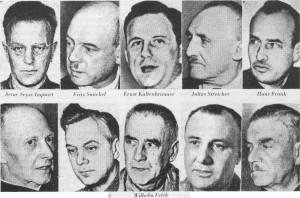 Alcuni dei gerarchi condannati