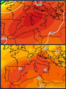 previsioni meteo anticiclone autunno novembre 2015 caldo italia europa mediterraneo