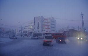 Jakutsk durante il periodo invernale