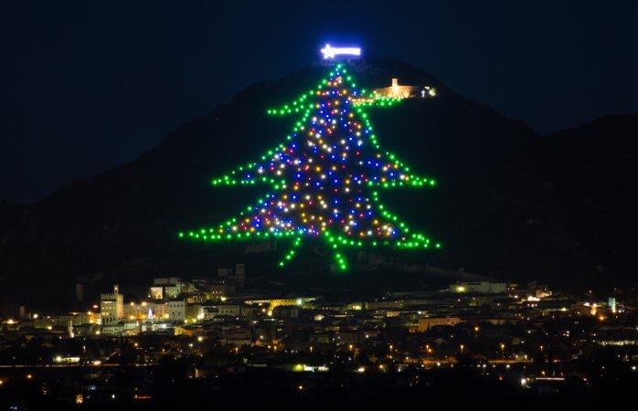 Alberi di Natale in Italia: Gubbio