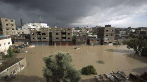 Le alluvioni sulla striscia di Gaza