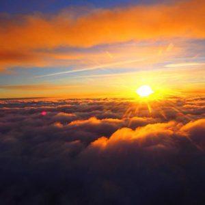 tramonto sole nuvole