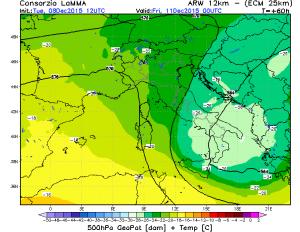 """Eccolo il """"CUT-OFF"""" con aria fredda in quota che domai arrecherà un po' di maltempo all'estremo sud e in Sicilia"""