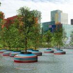 Bobbing Forest: la foresta fluttuante sullo storico porto di Rotterdam [FOTO]