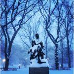Central Park sommerso dalla neve: le FOTO dal polmone verde nel cuore di New York