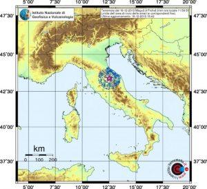 Risentimento sismico scossa del 1832