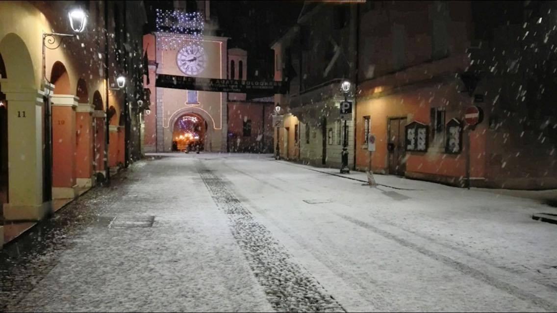 la spettacolare nevicata della scorsa notte a sant 39 agata