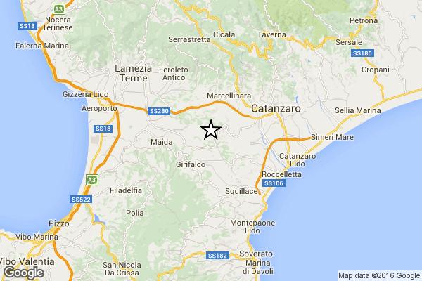 scossa Calabria