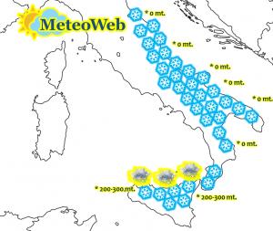 allerta meteo italia neve 17 e 18 gennaio 2016