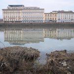 Siccità a Firenze, le FOTO dell'Arno in secca