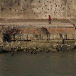 Roma, le FOTO del Tevere in secca per la siccità