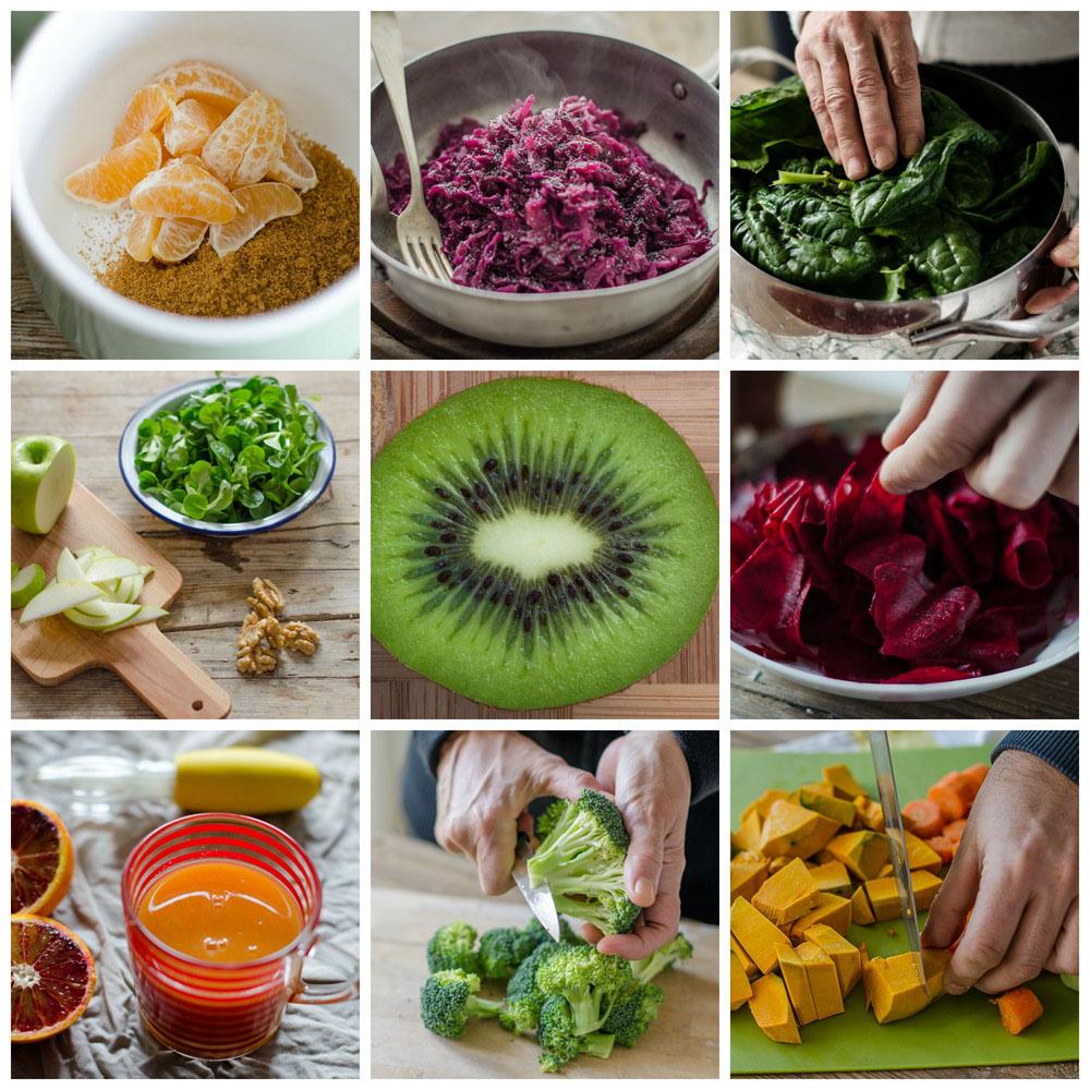 Alimenti Un Inverno All Insegna Del Colore Con Frutta E Verdura Di