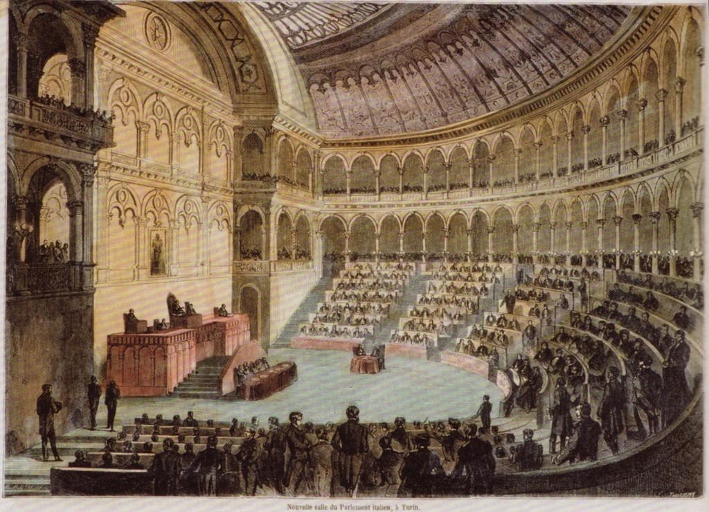 Accadde oggi nel 1861 il parlamento italiano si riunisce for Oggi in parlamento