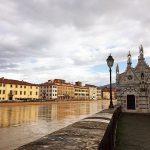 Pisa, il fiume Arno in piena [FOTO]