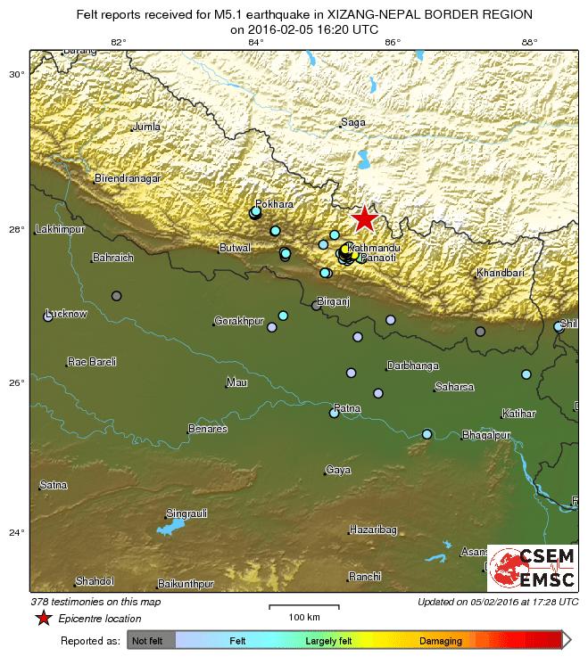 scossa Nepal