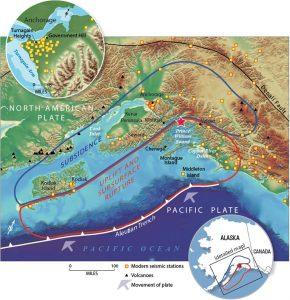 Epicentro Alaskan Earthquake