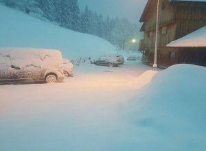 La neve di stamattina a San Vito di Cadore