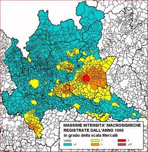 Sismicità Lombardia