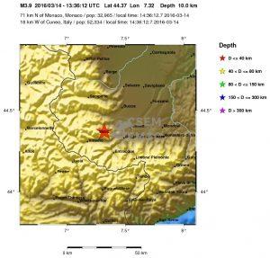 Terremoto Cuneo, 14 Marzo