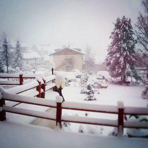 La neve di stamattina in Val Gardena