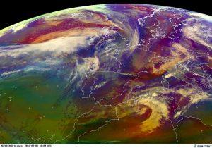 Lo sviluppo della spettacolare depressione extratropicale sottovento all'Atlante algerino