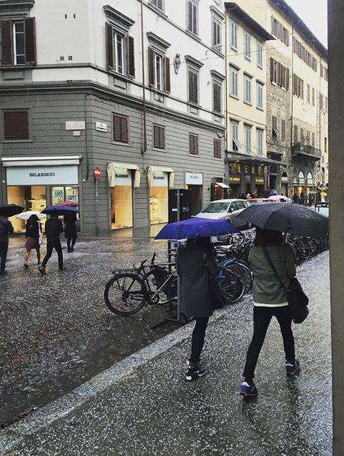 Grandine a Firenze