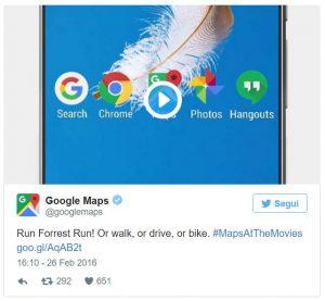 google maps android n tweet