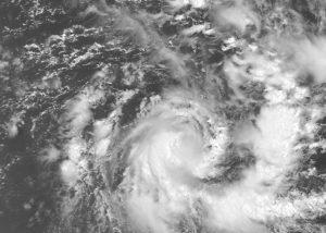 """""""Emeraude"""" durante la fase di sviluppo sopra l'oceano Indiano meridionale"""