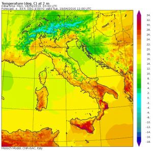 caldo italia domani temperature