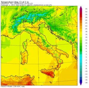 temperature domani