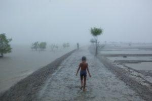 Effetti di una forte grandinata nel sud del Bangladesh